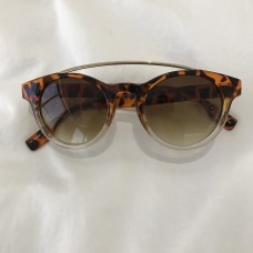 Óculos Urban Outfitters Leopard Bar Round