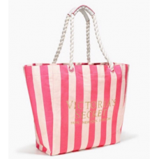 Victoria's Secret Bolsa Tote Pink White Stripe