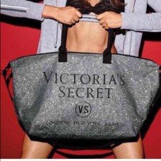 Bolsa Limited Edition Victoria's Secret Silver Tote
