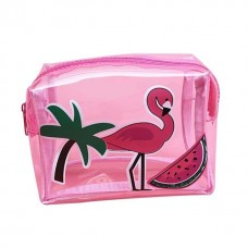 Bolsa Makeup Flamingo Transparente