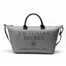Victoria's Secret Bolsa Tote Limited Edition Silver Glitter