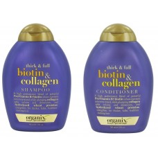 Organix Thick and Full Biotin and Collagen Shampoo and Conditioner