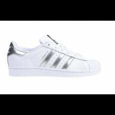 Adidas Tênis Superstar Branco e Prata 20bec5e2412fb