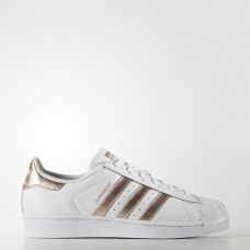 Adidas Tênis Superstar Branco e Rose Gold