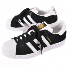 Adidas Superstar Black/White Camurça