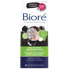 Bioré Máscara de Limpeza Facial Self Heating One Minute (Contém 4)