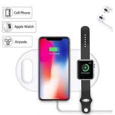 Carregador de Mesa Wireless  3 em 1 (iPhone, Airpods e Apple Watch)