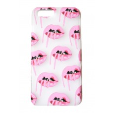 Kylie Frosted Pink Lips iPhone Case