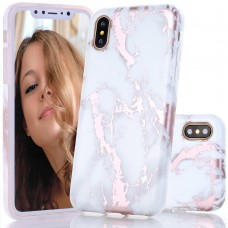 BYDI Case Capa Marble Mármore Rose