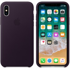 Apple Case Capa de Couro Iphone X (Cores)