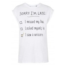 T-shirt Sorry I'm Late BYDI