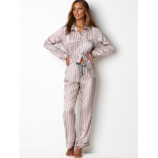 Victoria's Secret Pijama The Afterhours Satin Pink Stripe