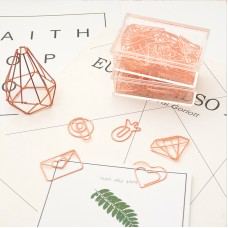 BYDI Kit Clips de Papel Rose Gold