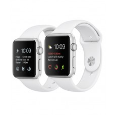 Relogio Apple Watch Serie 3 Caixa de 38/42 mm prateada de aluminio (Branco)