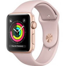 Relogio Apple Watch Serie 3 Caixa de 38/42 mm Gold Aluminum (Rose)
