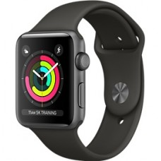 Relogio Apple Watch Serie 1 | 3 Caixa de 38/42 mm cinza espacial de aluminio (Preto)