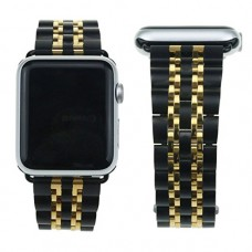 Apple Watch Pulseira Bracelete Black Gold