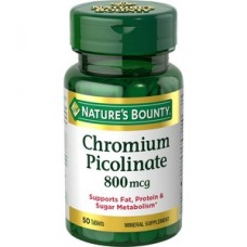 Nature's Bounty Chromium Picolinate 800 Mcg 50 Comprimidos