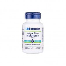 Natural Sleep Melatonin 5mg 60 Cápsulas Life Extension