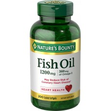 Nature's Bounty Fish Oil Cholesterol Free 1200mg