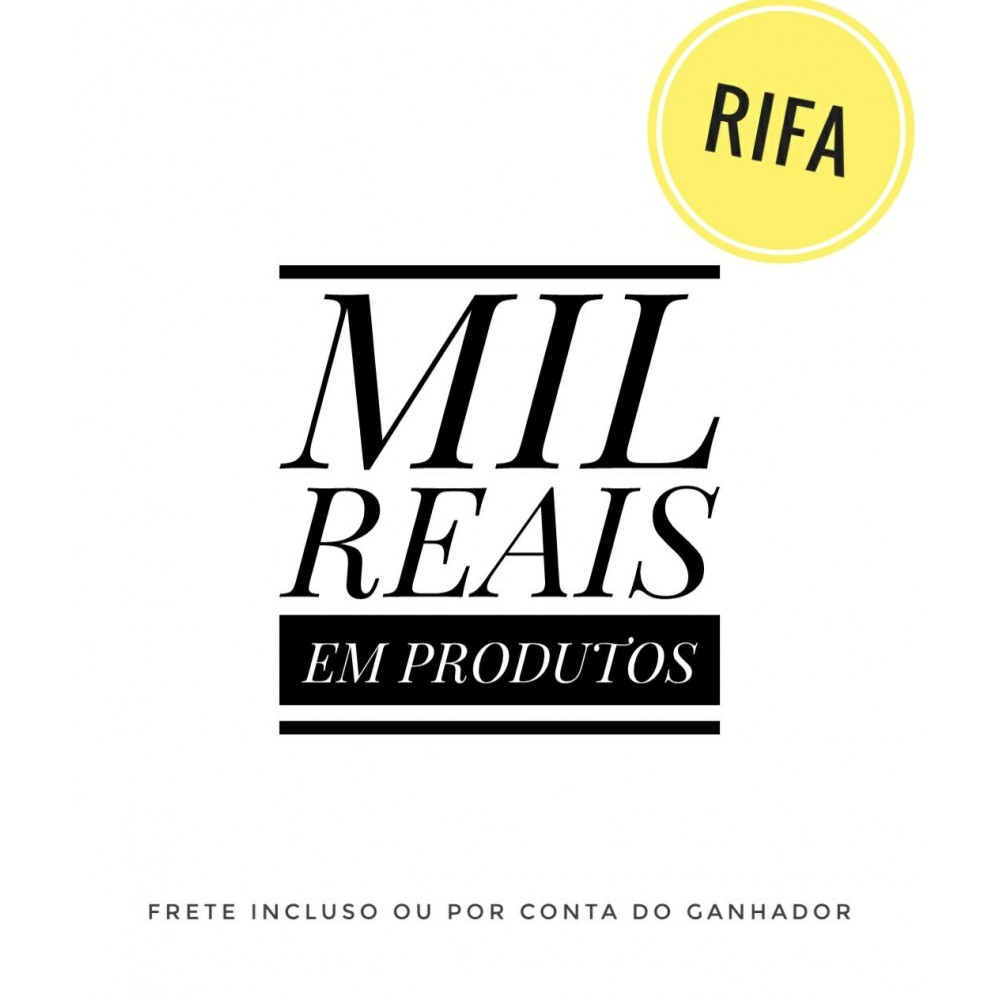 Rifa 2 - Vale Compra R$1.000, (Mil Reais) ou Apple Watch