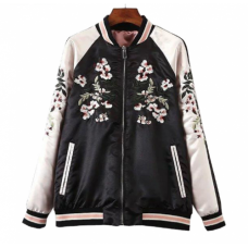 BYDI Jaqueta Bomber Dupla Face Floral
