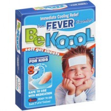 Be Koool Folhas de Gel para Reduzir Febre