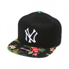 Bone New York Yankees Mahalo Print Adjustable Hat