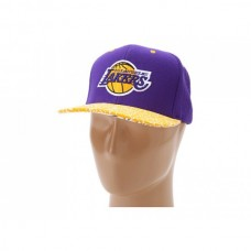 Bone Mitchell & Ness NBA Hardwood Classic In the Stands Snapback - Los Angeles Lakers