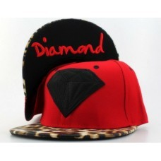 Bone Diamond SUPPLY CO Snapback ( Red/Black/Leopard)