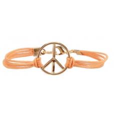 Pulseira Simbolo da Paz (Laranja)