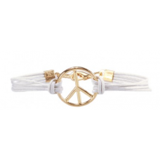 Pulseira Simbolo da Paz (Branco)