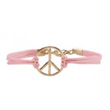 Pulseira Simbolo da Paz (Rosa Claro)
