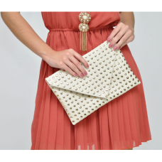 Bolsa Studded Envelope Clutch Zara