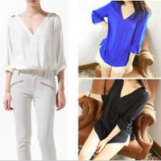 Camisa Social Detalhe Ombro (3 cores - Estilo Zara)