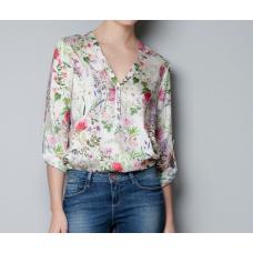 Blusa Chiffon Floral