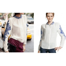 Camisa Porcelain H&M