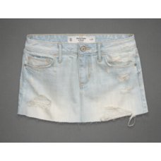 Abercrombie Mini Saia Jeans Light Blue