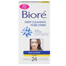 Biore Adesivo Anti-Cravos Deep Cleansing Pore Strips Original - 24 Adesivos