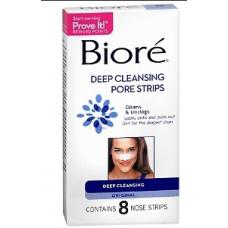Biore Adesivo Anti-Cravos Deep Cleansing Pore Strips Original - 8 Adesivos