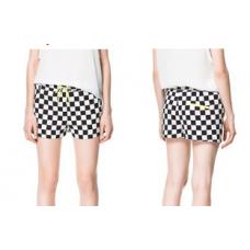Shorts Zara Tabuleiro de Damas (estilo Zara)