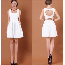 Vestido Coracao Costas (Preto e Branco)