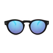 Óculos illesteva - LEONARD MATTE BLACK WITH BLUE MIRRORED LENSES