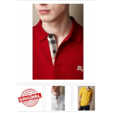 Burberry Polo Masculino Brit Short Sleeve House Check Polo Shirt Mens
