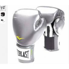 Everlast Kit Boxe MMA Prateada - Luva + Bandagem + Bucal