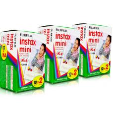 Fujifilm Kit 3 Filmes Instantâneos para Instax Mini (Contém 20 cada)