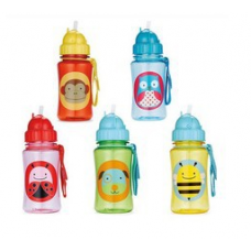 Chokecherry Children Cartoon Animal Straw Cup Kids Water Bottle Drinking Cup Leak Proof Sports Bottles