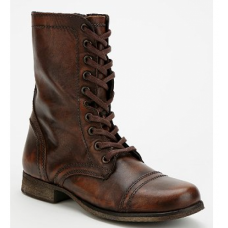 Steve Madden Bota Coturno Troopa Lace-Up Marrom