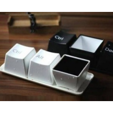 Canecas Divertidas - Keyboard (Ctrl + Alt + Del - 3 pecas)