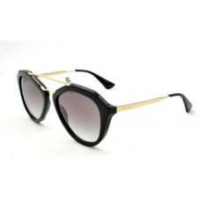 Prada - Óculos PR 12QS - Preto/Dourado